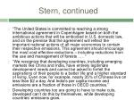 stern continued