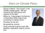 stern on climate plans