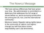 the nowruz message