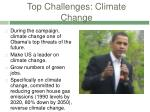 top challenges climate change