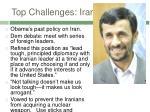 top challenges iran
