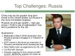 top challenges russia