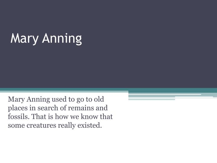 mary anning n.