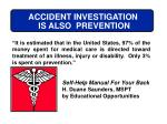 accident investigation is also prevention
