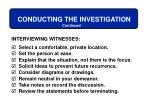 conducting the investigation54