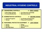 industrial hygiene controls