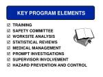 key program elements