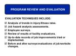 program review and evaluation