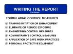 writing the report56