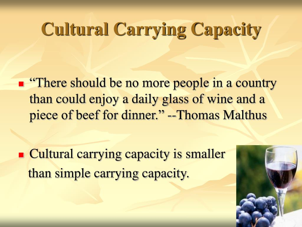 Cultural Carrying Capacity