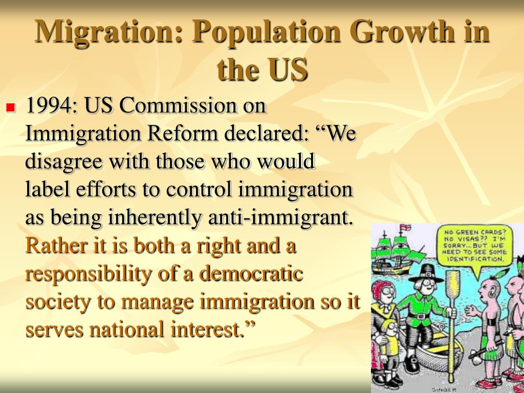 Migration: Population Growth in the US