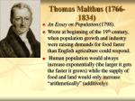 thomas malthus 1766 1834
