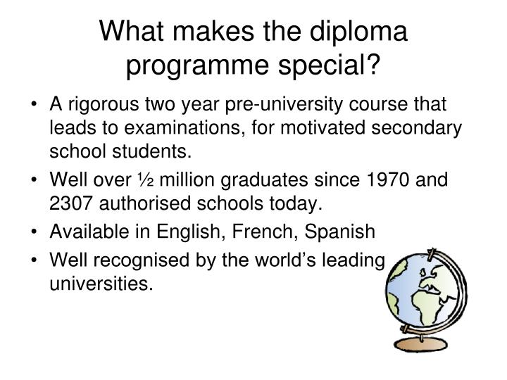 What makes the diploma programme special?