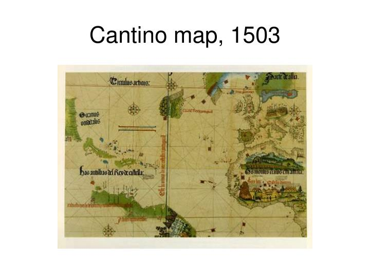 Cantino map, 1503