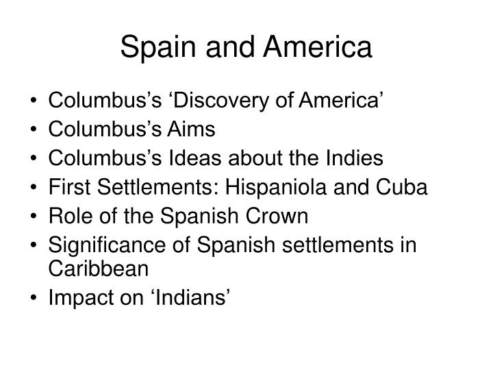 Spain and America