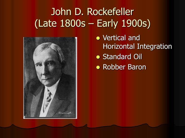 john d rockefeller and standard oil
