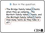 b box in the question1
