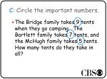 c circle the important numbers1