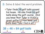 s solve label the word problem