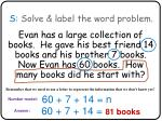 s solve label the word problem5