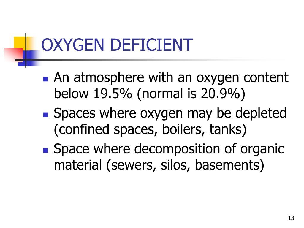 OXYGEN DEFICIENT