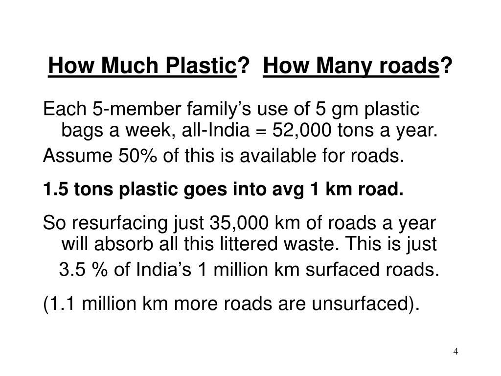 ppt on plastic roads Of the various waste materials, plastic wastes are of great concern  of waste  plastic in bituminous road construction pptuse of waste plastic in.