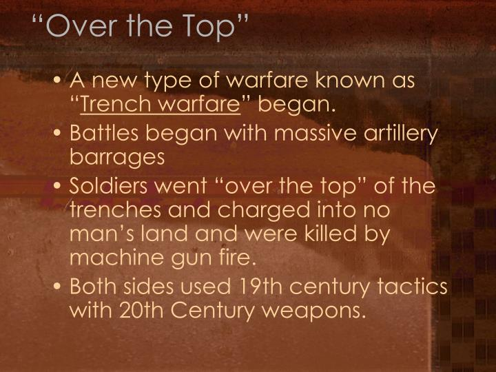 """""""Over the Top"""""""