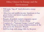 hillary clinton on energy and the environment