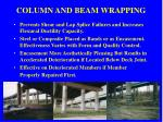 column and beam wrapping