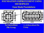 foundation improvement using micropiles