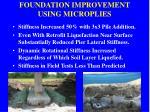 foundation improvement using microplies