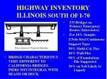 highway inventory illinois south of i 70