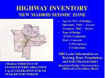highway inventory new madrid seismic zone