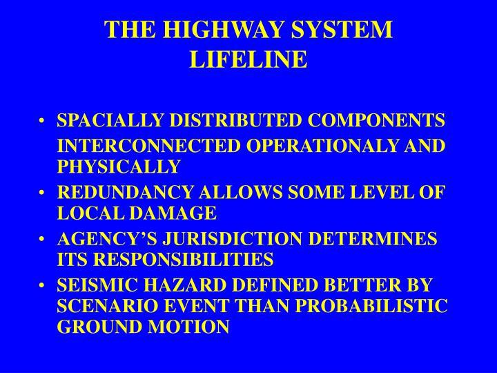 THE HIGHWAY SYSTEM LIFELINE