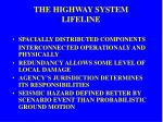 the highway system lifeline