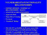 vulnerability functionality relationships