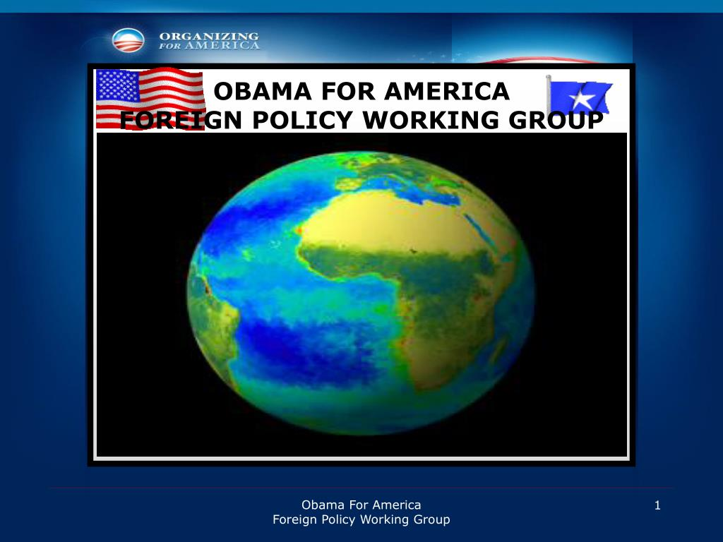 obama for america foreign policy working group l.