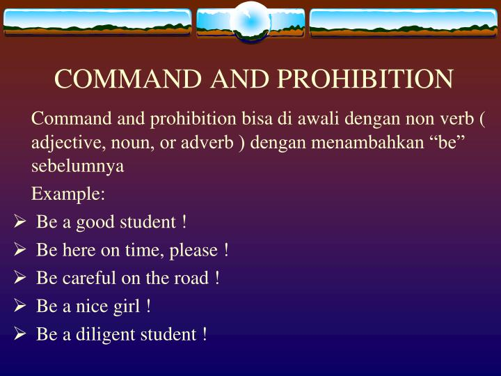 COMMAND AND PROHIBITION