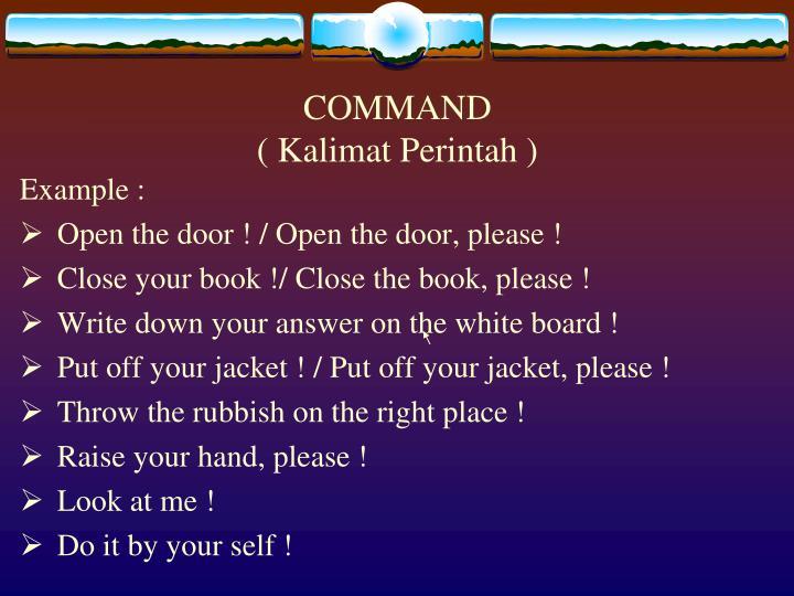 Command kalimat perintah