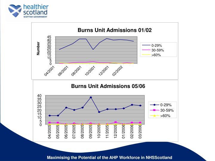 Burns Unit Admissions 05/06