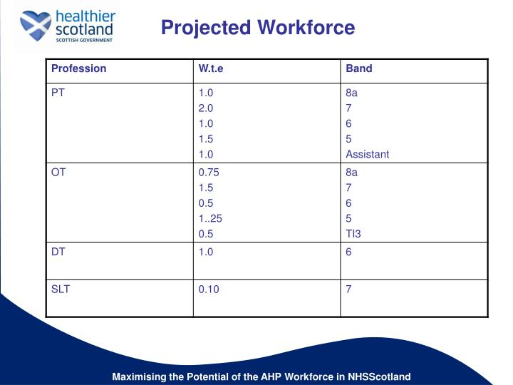 Projected Workforce