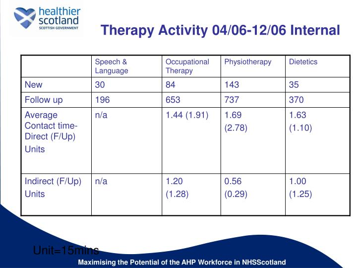 Therapy Activity 04/06-12/06 Internal