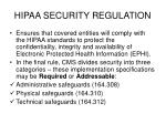 hipaa security regulation