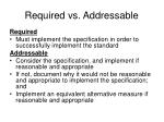 required vs addressable