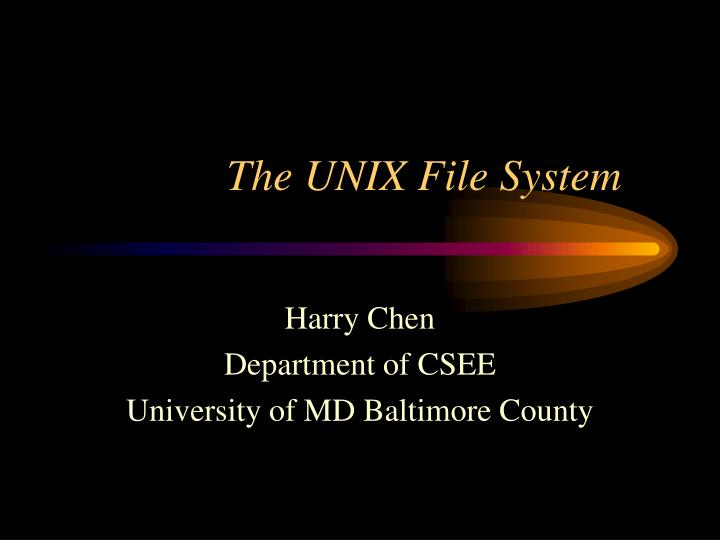 the unix file system n.