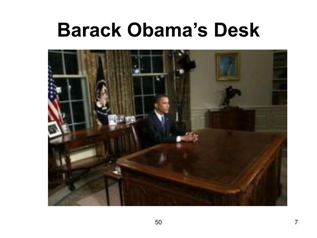 Barack Obama's Desk
