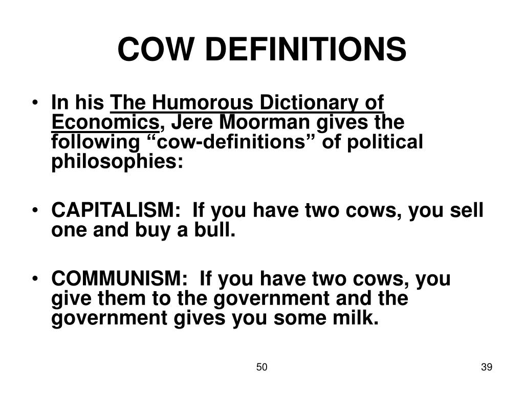 COW DEFINITIONS