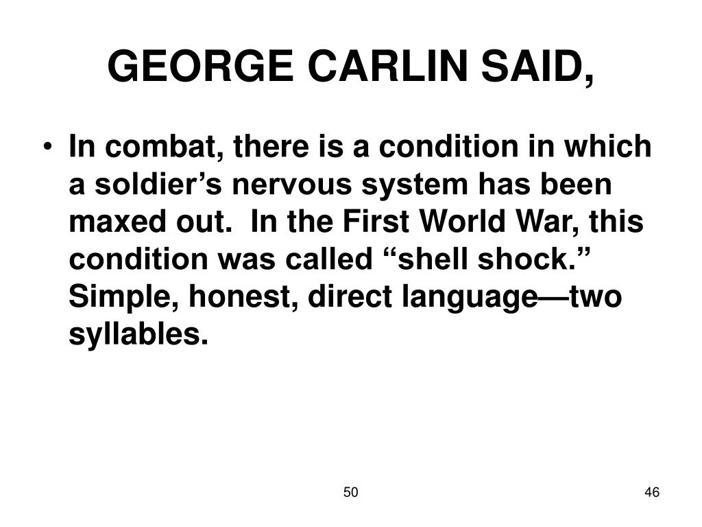 GEORGE CARLIN SAID,