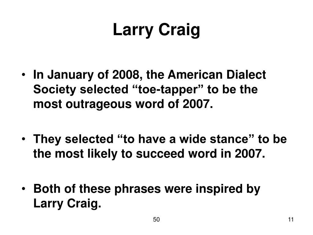 Larry Craig