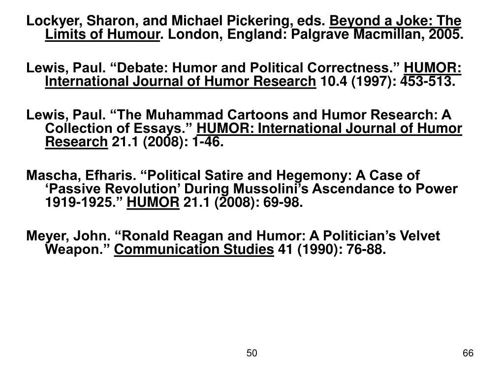 Lockyer, Sharon, and Michael Pickering, eds.